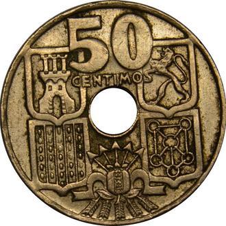 Іспанія 50 centimos 1949