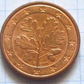 Германия_ 1 евро цент 2011 F оригинал