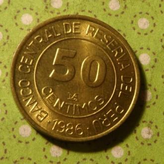 Перу 1986 год монета 50 сентим !
