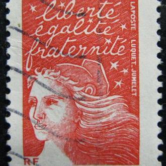 Марка Франция, 1971 год 0,50 New Marianne Type - Flourescent Paper