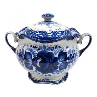 Расписная сахарница из керамики Тюльпан 03-3A