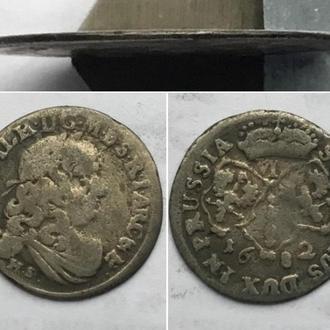 Пруссия 6 грошей 1682г