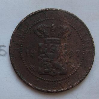НИДЕРЛАНДСКАЯ ИНДИЯ, 1 цент 1907 года.