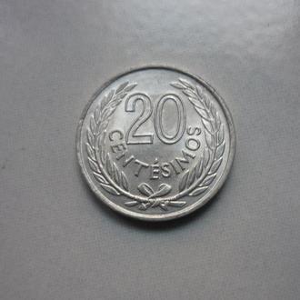 Уругвай 20 сентесимо 1965 состояние