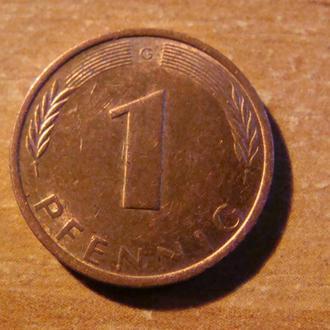 ФРГ Германия 1 пфенниг 1971  G