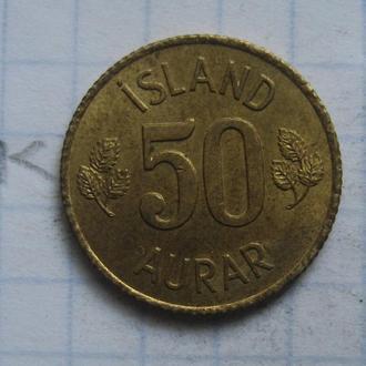 ИСЛАНДИЯ, 50 аурар 1970 года.