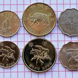 Гонконг, 1997, 3 монеты