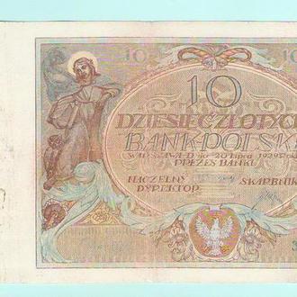 Польша 10 злотых 1929