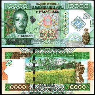 Guinea / Гвинея - 10000 Francs 2010 UNC Миралот