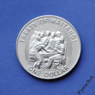 Новая Зеландия 1 доллар 1990
