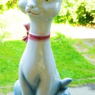 -N-     фарфор или фаянс = кошка кот - из германии = 37 см!