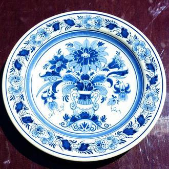 Коллекционная настенная тарелка! blauw Delft Голландия! =  handwerk