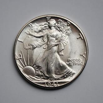 США 50 центов 1941 г., BU, 'Шагающая свобода пол доллара'