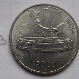 ИНДИЯ, 50 пайса 2000 г. (КАРТА ИНДИИ).