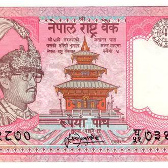 НЕПАЛ. 5 Рупий 1987 г. UNC