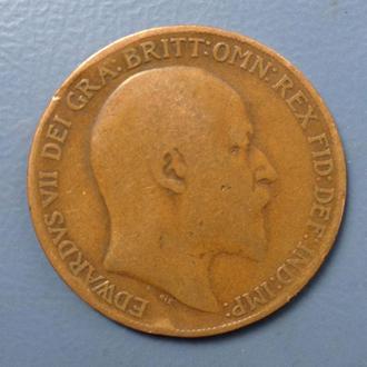 Великобритания, 1 penny 1907 год
