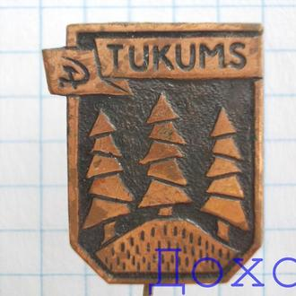 Значок TUKUMS город Тукумс Латвия на иголке тяжелый