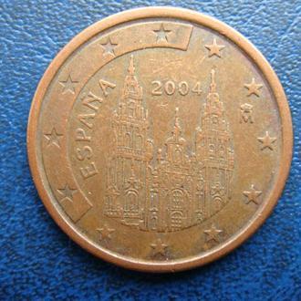 Испания 5 центов 2004