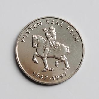 Норвегия 5 крон 1997 г., UNC, '350 лет Норвежской почтовой службе'