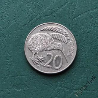 Новая Зеландия 20 центов 1986 Елизавета