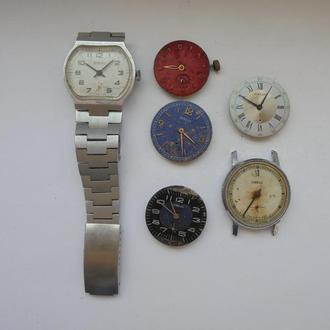 Часы механические ПОБЕДА 6 штук на запчасти. Цена за всё!!! (№947).