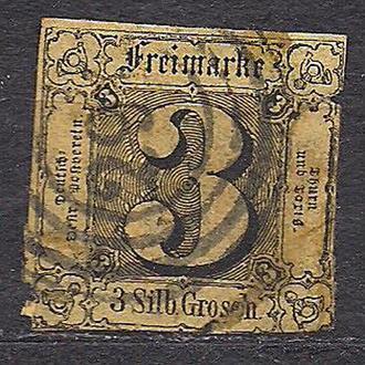 Немецкие земли, Thurn und Taxis, 1852-58 гг., первые марки, марка № 6 b