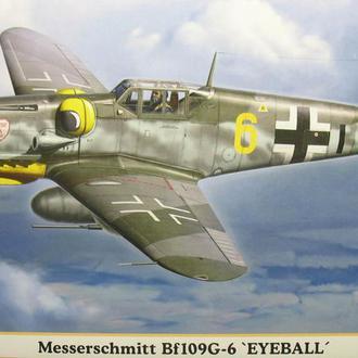"""Сборная модель самолета Bf-109G-6  """"Eyeball"""" 1:48 Hasegawa 09739"""