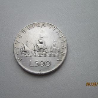 Монета Италия 500лир серебро 1