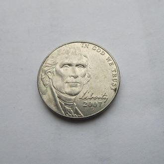 5 центов США Америка 2007 год