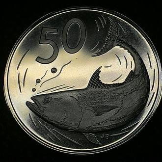 о-ва Кука 50 центов 1972 год ОТЛИЧНАЯ!!!! тираж 17 000