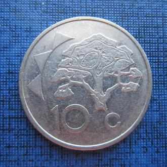 монета 10 центов Намибия 1993