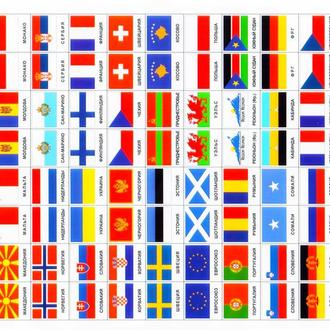 Наклейки.Флаги стран (втч непризнанных) ,територий,островов (264) мира.1 грн.за 2 флага.
