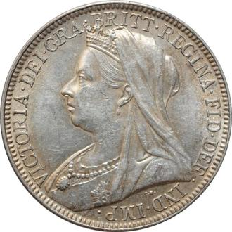 "Великобритания 2 шиллинга (флорин) 1898 г., UNC, ""Королева Виктория (1838 - 1901)"""