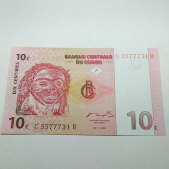 Конго, 10 сентимов, 1997, пресс, unc, оригинал