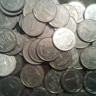 СУПЕР ЛОТ 64 монеты по 1 копейке с 1992г по 2014г