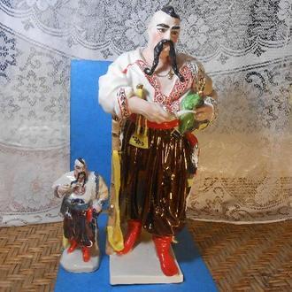 Фарфоровая статуэтка большая Козак Тарас Бульба Казак с трубкой с клеймом Подарок