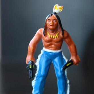 индейцы ковбои ГДР( № 044)с нормальным лицом