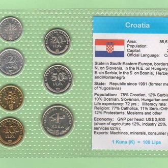Набор монет ХОРВАТИЯ блистер запайка пластик