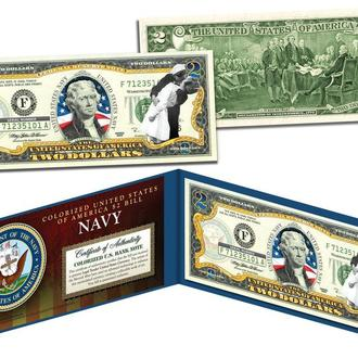 2 Доллара / 2 Dollars (США) (Цветная, Цветные)