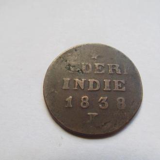 Нидерландская  Индия  2  цента  1838  год
