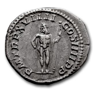 "(А)3540 - Каракалла (198—217 г.) AR Денарий ""Юпитер"""