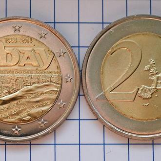 Франция 2 евро, 2014 70 лет высадке в Нормандии
