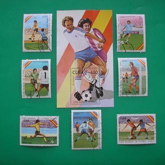 Куба 1982 Футбол  Спорт  * Полн. сер.