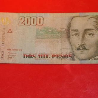 2000 песо 2010 г Колумбия