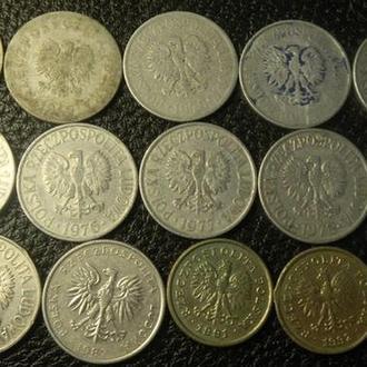 50 грошей Польща (порічниця з 1923р),  15шт, всі різні