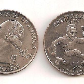 Сувенирная монета 25 Центов California (2005) #2