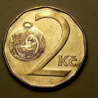 2 кроны 1996 года Чехия !!! а2