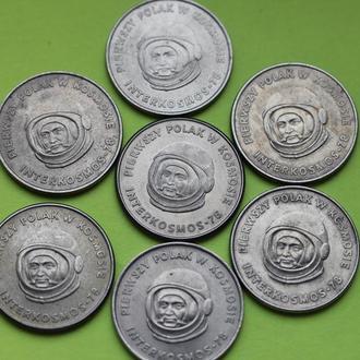 Польша 20 злотых 1978 Интеркосмос