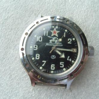 Часы Восток Командирские 2416 Б Танк Автоподзавод Водонепроницаемые Рабочие