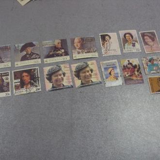 марки Австралия личности, королева елизавета, визит, день рождение королевы лот 15 шт №36